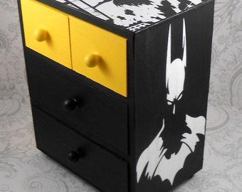 Custom Batman Yellow and Black Stash Jewelry Box