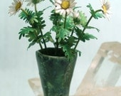 Miniature Under the Sea Bucket Vase full of Daisies in Dollhouse Scale