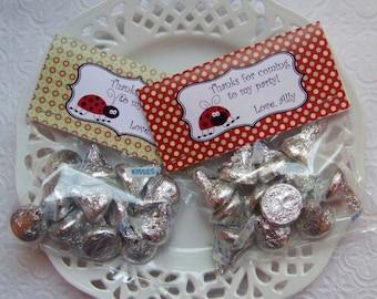 Printable Red Ladybug Birthday Bag Toppers