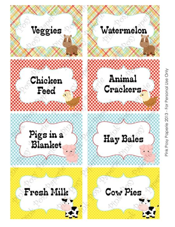 Free Printable John Deere Food Labels
