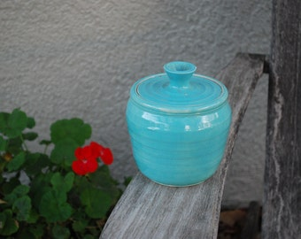 Vintage Stoneware Ceramic Dish Pot with Lid