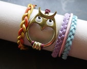 Set of Mixed Material Friendship Arm Candy Bangle Bracelet