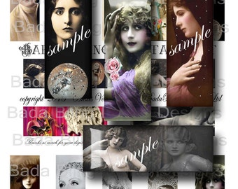 1 x 3 inch,  Stars of the Stage and Screen,  digital collage sheets  for  1 x 3 inch slides INSTANT  Digital Download at Checkout