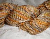 Fairy Sock Bronze It's the Great Pumpkin, Mephistopheles hand dyed sock weight yarn 438 yds