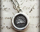 Friendship Necklace - Hands Clasped in Friendship - Wax Seal Necklace - Friendship Jewelry