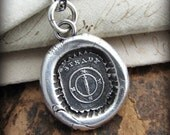 Compass Wax Seal Necklace - Mariners Compass - You are the Captain of your Journey - Inspirational Jewelry in recycled fine silver - E2195