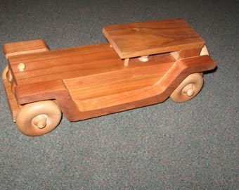 Classic wood toy Rolls Royce