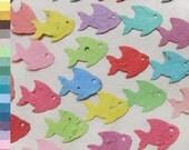 Plantable Seed Paper Fish Confetti - Beach Wedding Favors - Tropical Confetti Fish