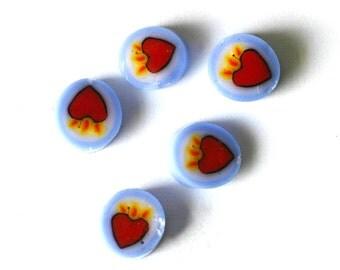 Flaming heart 104 COE Murrini murrine millefiory