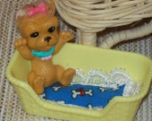 Barbie Pet Set /  Barbie Dog Bed Cushion With Pet Dog And Bed