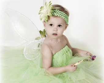 Tinkerbell Wings - White Pixie Wings - Handmade Fairy Wings - Wings ONLY, Tutu Dress Not Included
