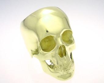 the full skull ring in 14k gold