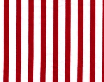 Roberf Kaufman Pimatex Red and white stripes  yard