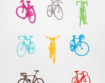 Bike Art - Bicycle Color Chart Screenprint