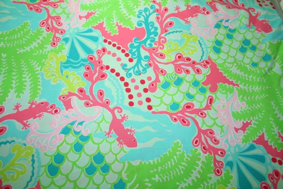 lilly pulitzer 2013 checking in blue 100 cotton