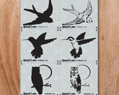 Birds 3 Pack Two Layers Stencil- Reusable Crafts & DIY Stencils- S1_3P2L_12 -8.5x11- By Stencil1