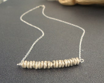 Silver necklace / simple minimalist everyday necklace
