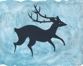 RESERVED BY BRIANNA - Deer - original, handcut silhouette