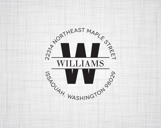 Monogram Personalized Return Address Stamp, Self Inking Stamp, Address Stamp, Wedding Address Stamp, Wood Rubber Stamp, Customized Address