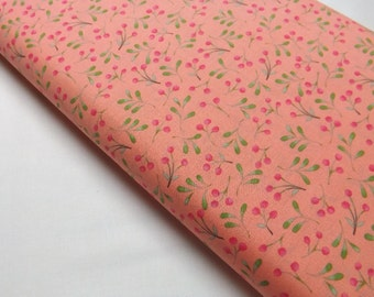 P & B Textiles Clara 991-J in Coral Small Berries Whimsical Fabrics Quilting and Sewing Print