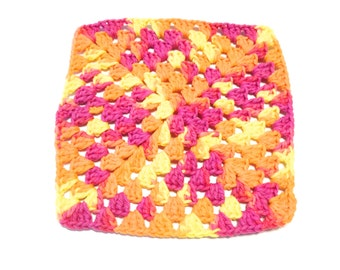 Playtime Crocheted Square Dish Cloth