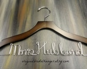 Personalized Wire Hanger - Last Name Hangers - Bride Hangers - Bridal Accessories - Wedding Dress Hangers - Wedding Coat Hangers