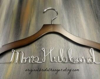 Personalized Wire Hanger - Last Name Hangers - Bride Hangers - Bridal Accessories - Wedding Dress Hangers - Wedding Coat Hangers