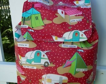 LAST ONE My Carrie Full Size Waterproof Glamping Backpack Red