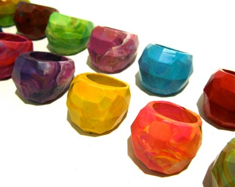 Geodome Crayon Ring-Recycled Rainbow Crayons - Set of 4 Recycled Crayons