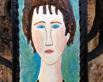 Luggage Tag with Modigliani Replica