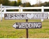 Custom Wedding Sign Barn wood Romantic Outdoor Weddings Trueconnection Hand Painted Wood. Rustic Weddings. Vintage Weddings Road Signs Barn