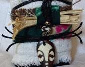 African fabric cuff bracelet A4