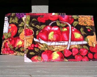 Summer Harvest 2 Fabric Postcards Special Fruit Apples