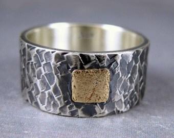 Unique wedding band, Custom engraved ring,  distressed wedding band, personalized wedding ring, mens rustic wedding ring, black silver ring