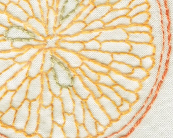 Citrus Slice Hand Embroidery Pattern