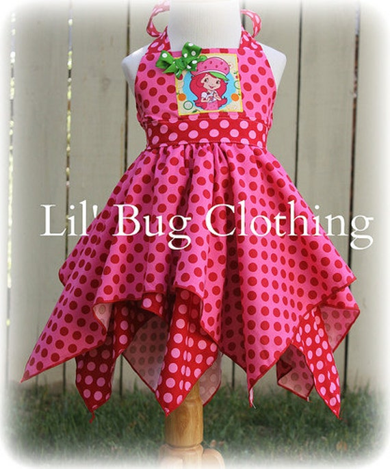 Strawberry Shortcake Girls Dress, Strawberry Shortcake Costume, Strawberry Shortcake Girl Birthday Outfit, Strawberry Shortcake Party