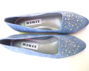 Studded Shoes Vintage 80s Chambry with Studs Size 8.5 NWOT