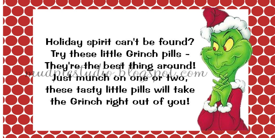 Striking image throughout grinch pills printable