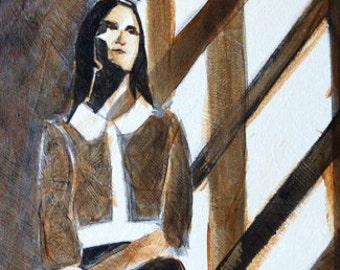 Shadows original acrylic painting on canvas