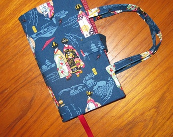 Paperback Book Cover Japanese Asian Fabric Geisha Maiko Design PREMIUM SIZE