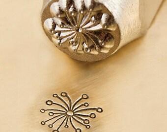 Dandelion design ImpressArt Metal Design Stamp 6mm Jewelry Steel Punch Floral Metal Stamp