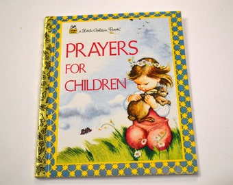 Vintage Children's Book Prayers for Children Little Golden Book