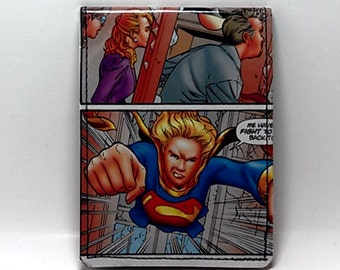Sewn Duct Tape Comic Book Wallet - Supergirl Design 4