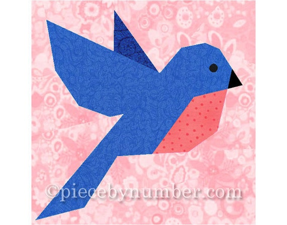 Bluebird Quilt Block Pattern Bird Quilt Patterns Animal