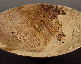 Spalted Hackberry Turned Wood Bowl Number 5196