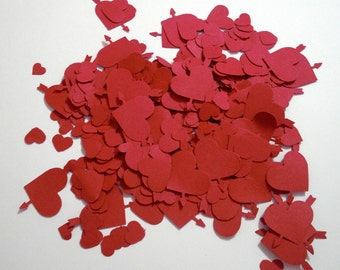 Hand Punched Hearts for Confetti, Decorations,Cards...