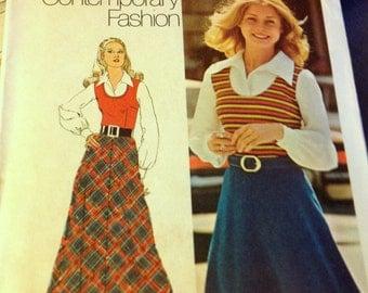 Vintage Sewing Pattern Simplicity 5241 Bias Skirt  Size 16 Bust 38 Waist 30 Waist 29 Uncut Complete
