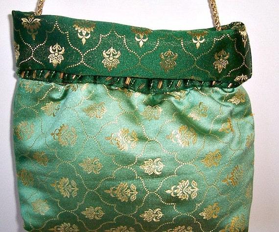 Cross  Body Bag ,   Cross Body Purse , Over the Shoulder Bag , Cross Body Handbag , Crossbody  Bag , Evening Bag , Emerald Green Purse