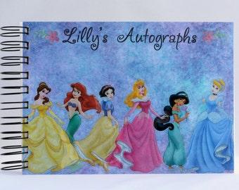 Personalized Disney Princesses Autograph Book