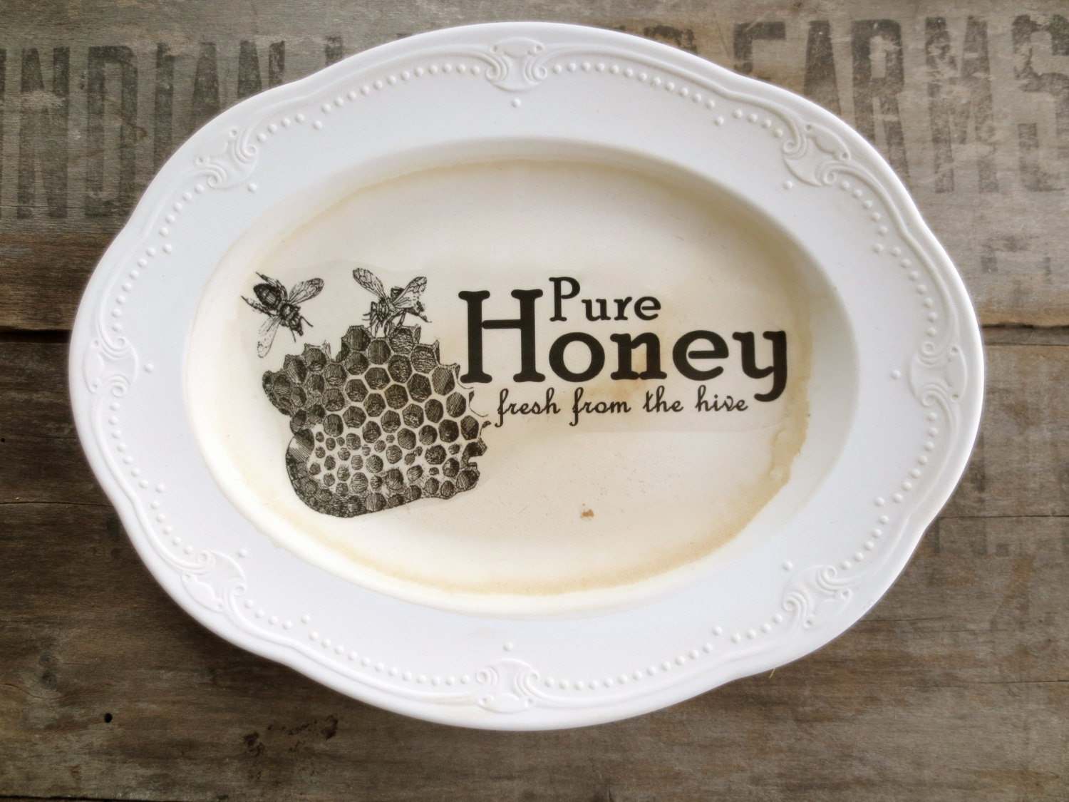 Farmhouse kitchen sign honey sign rustic by modernhermine